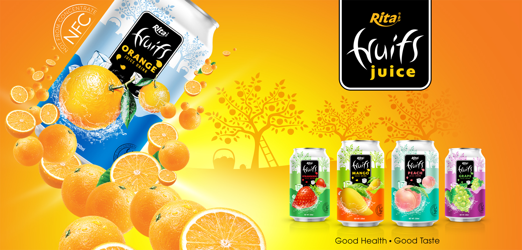 Peach juice 330ml fruit drinks brands