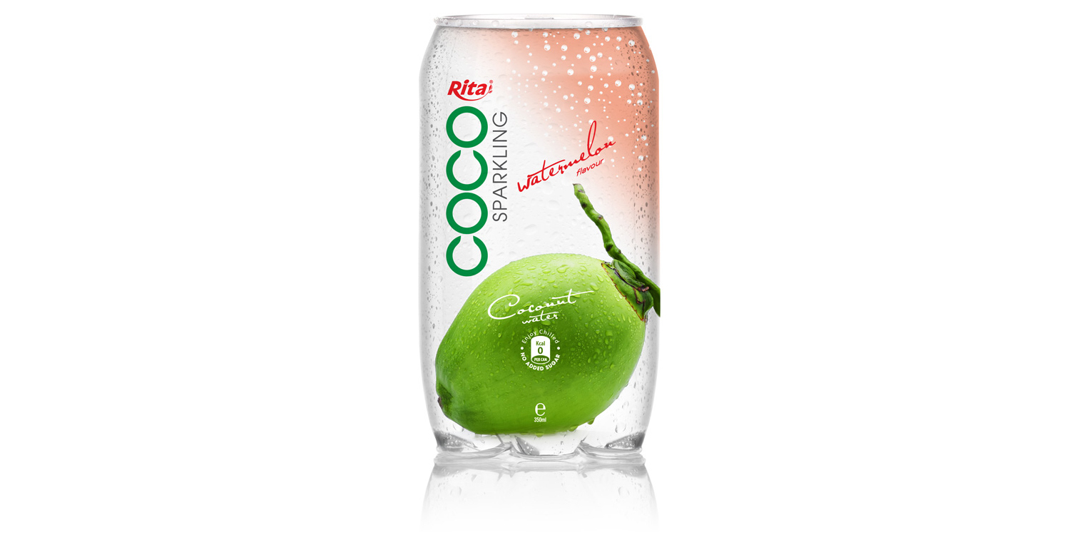 350ml Pet bottle   Sparking coconut water  with watermelon juice from RITA India
