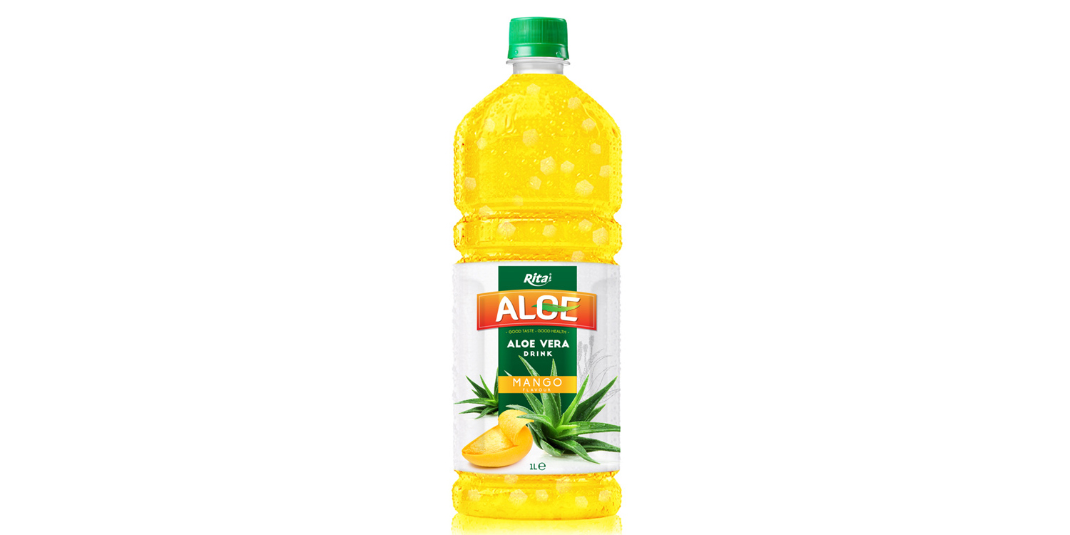 Aloe vera 1L with mango flavored drinks from RITA India