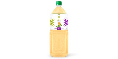 Aloe vera with passion fruit  juice 2000ml Pet Bottle from RITA India