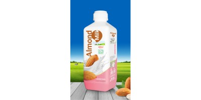Almond milk drink no sugar 1000ml PP bottle from RITA India