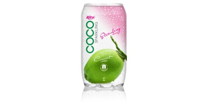 350ml  Pet bottle  Sparking coconut water  with strawberry juice from RITA India
