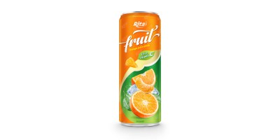 fruit orange juice enrich vitamin C in 320ml can from RITA IN