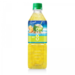 Coconut water with pineapple flavor  500ml Pet bottle