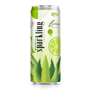 sparkling drink aloe vera juice lime flavour